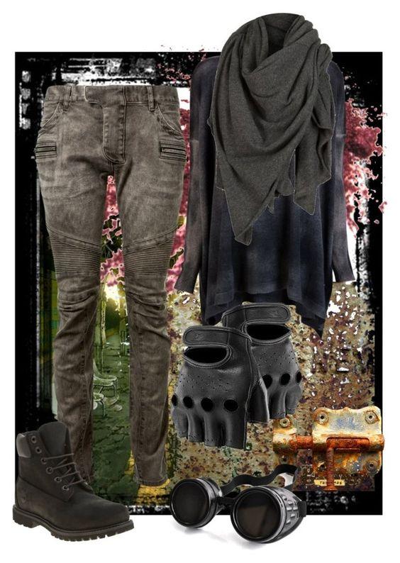 """Rusty Style"" by andyalexandross ❤ liked on Polyvore featuring Avant Toi, Balmain, Timberland, AllSaints, Poizen Industries, apocalyptic and dystopian"