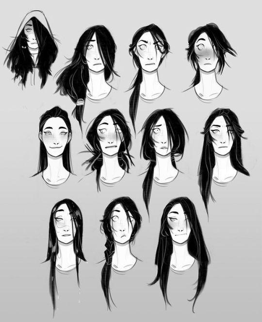 Art Of Olivia Margraf Posta Long Hair Drawing Boy Hair Drawing Hair Reference