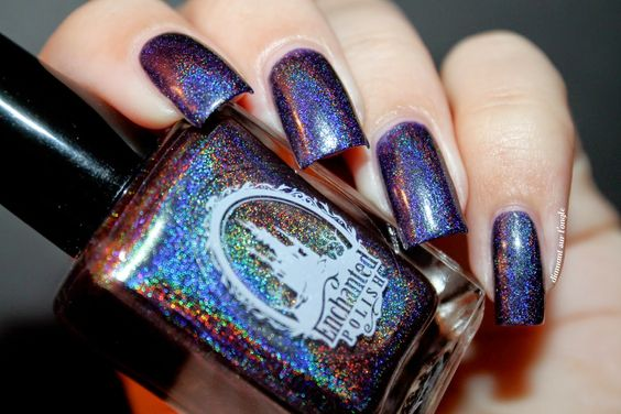 ☽ Dark Fantasy by Enchanted Polish by diamant sur l'ongle