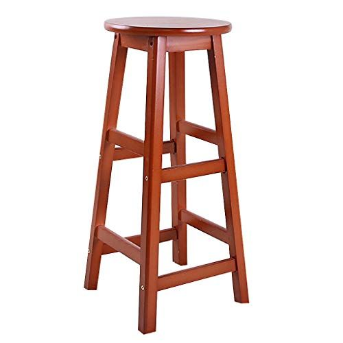 Gy Solid Wood Bar Stool Square Leg Counter High Stool Tabby Stool Bar Chair Home Kitchen Island Breakfast Bar Stools Footstool Living Rooms Wood Bar Stools