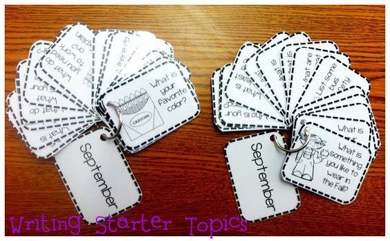 Just Wild About Teaching: Writing Center Starter Topics - September Freebie!...