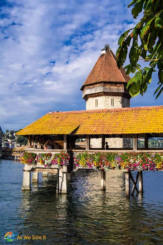 Take a day trip to Lucerne, Switzerland and explore Mt. Pilatus. On the mountain's slopes, you can hike, ride the toboggan run, zip line, or have fun on a ropes course. Ride the gondola to the top and follow paths to see beautiful panoramic views of Switzerland. Ride the cogwheel train down the mountain and enjoy the afternoon in Lucerne. This is a perfect day in Switzerland. Click through for all the details. #switzerland #daytrips #lucerne #luzern #pilatus #mtpilatus #aswesawit