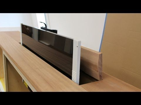Jon Peters shows how to make a top for TV lift cabinet. looks super cool but not sure if I could do it...