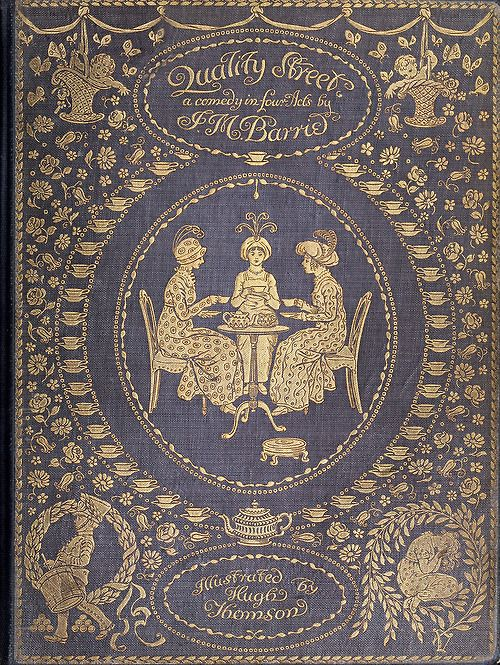 Illustrated Book Cover Zwart : Quality street vintage book cover illustrated by hugh