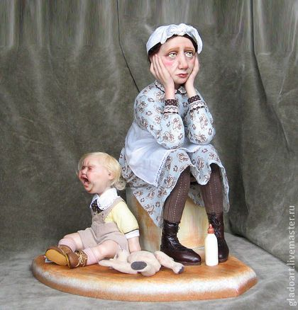 "Collectible dolls handmade.  Fair Masters - Handmade Dolls ""Nanny.""  Handmade."