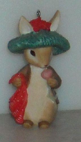 BENJAMIN BUNNY ORNAMENT Beatrix Potter 1998 Keepsake Holiday Ornament