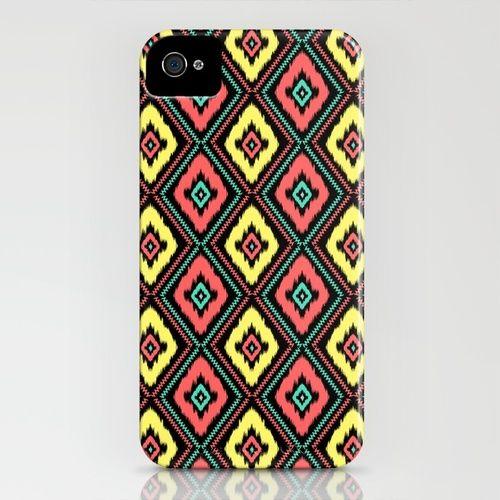 Zig Zag Ikat iPhone Case