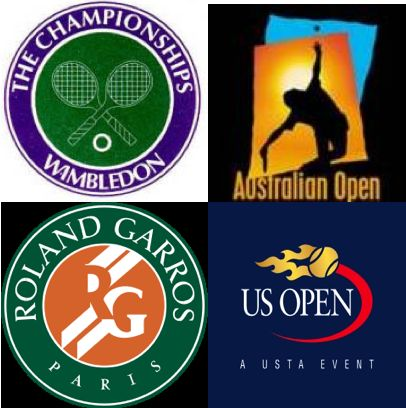 "The Four ""Major(s)"" Titles in professional tennis: Wimbledon (The Championships), Australian Open, Roland Garros (French Open) and the US Open...PLEASE stop calling them ""Slams"", they're MAJORS! The term Slam(s) is only relevant if a player wins ALL FOUR in a Calendar Year, then it's called a ""Grand Slam"". Thanks!!"