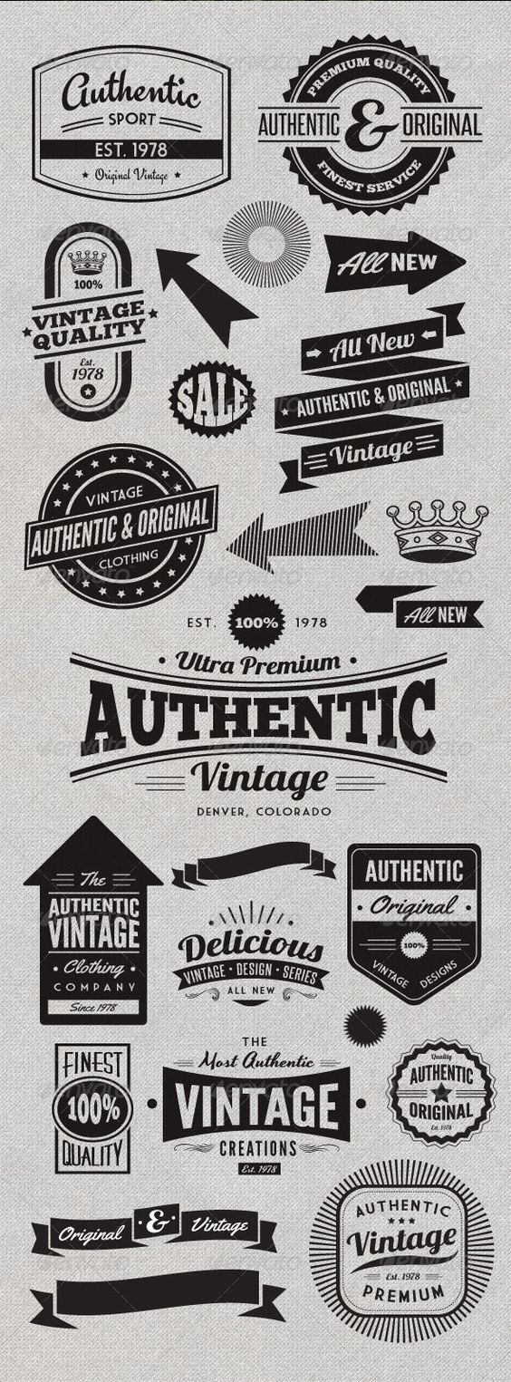 Vintage Style Badges and Logos Vol 2