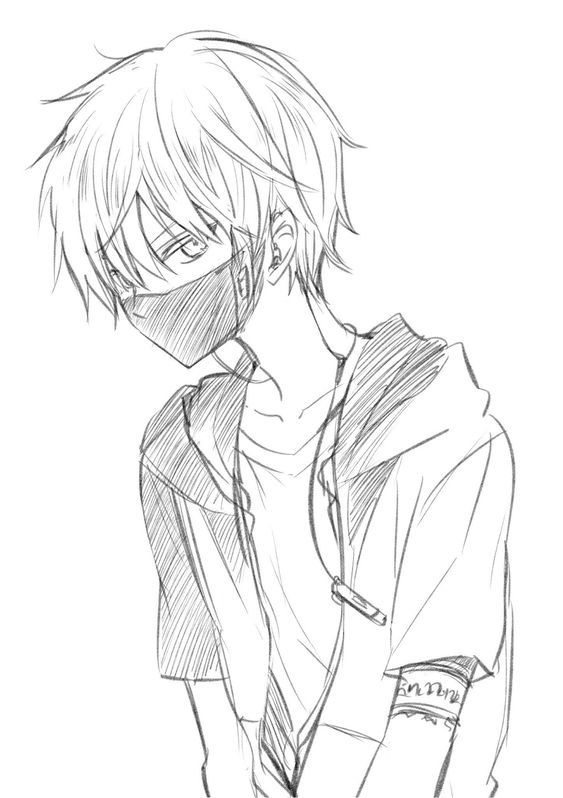 How To Draw A Boy Face And Cat Wearing Masks Stayhome And Draw Withme Anime Drawings Sketches Anime Drawings Anime Drawings Boy