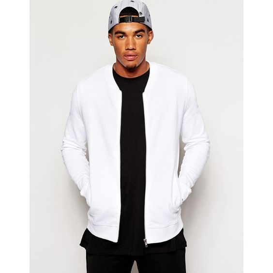 Mens White Bomber Jacket - My Jacket