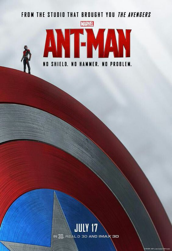 New poster, Ant-Man is on Captain America's shield