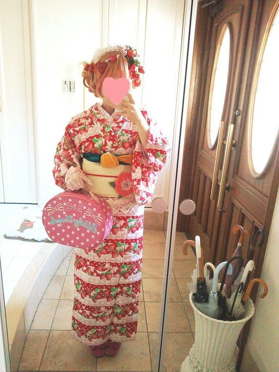 Angelic Pretty yukata with Shirley Temple bag