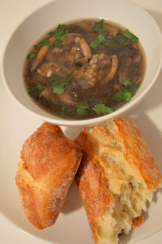 Quick and Easy Mushroom Barley Soup recipe! | Recipes | Pinterest ...