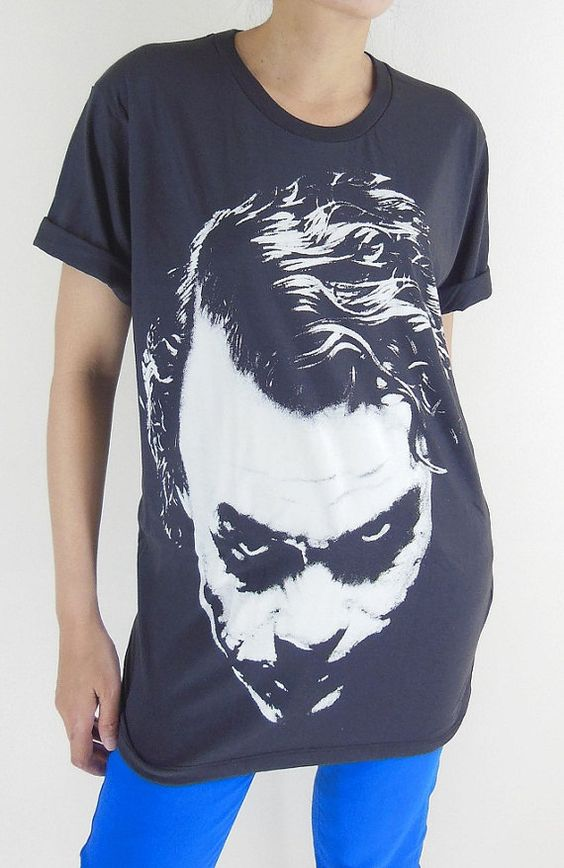 Joker TShirt  Joker Shirt Joker Heath Ledger Batman by panoTshirt, $17.00