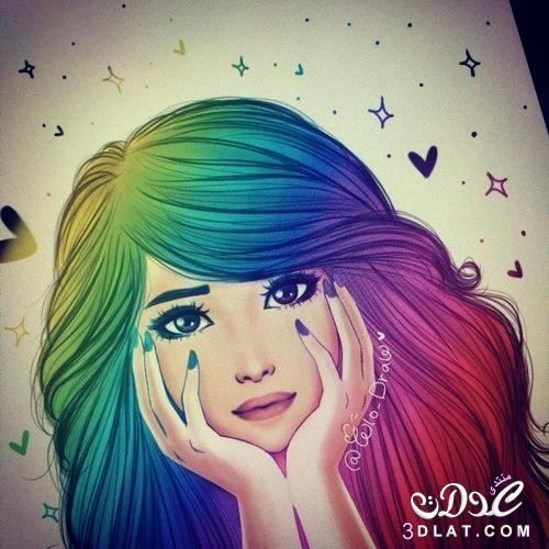 صور مرسومة 2018 رسومات بنات ملونة2018 صور مرسومة ملونة رسومات مميزة صورة مرسومة جديدة Pretty Drawings Drawings Cute Drawings