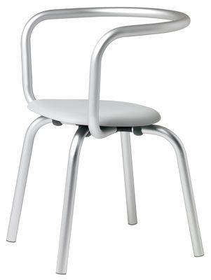 Fauteuil Parrish Aluminium / Assise grise - Emeco