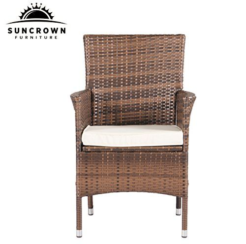 Suncrown Outdoor Furniture All Weather Wicker Dining Table And