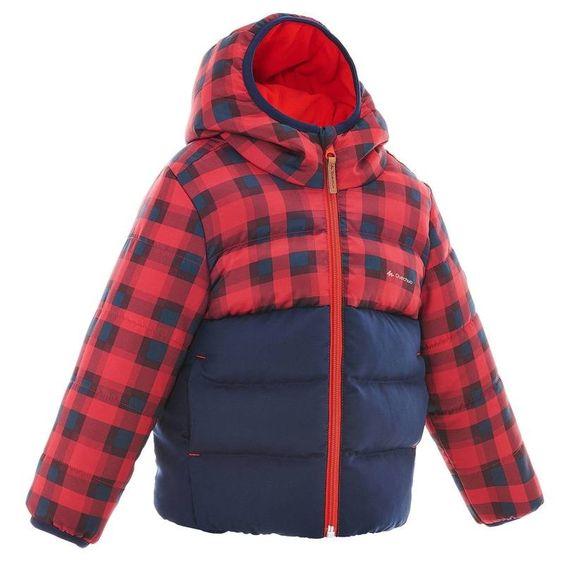 Abbigliamento escursionismo junior Bambino - Piumino bambino 2-6 anni X-WARM rosso-blu QUECHUA - Abbigliamento
