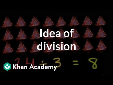The Idea Of Division Multiplication And Division Arithmetic Khan Academy Youtube Multiplication And Division Arithmetic Khan Academy