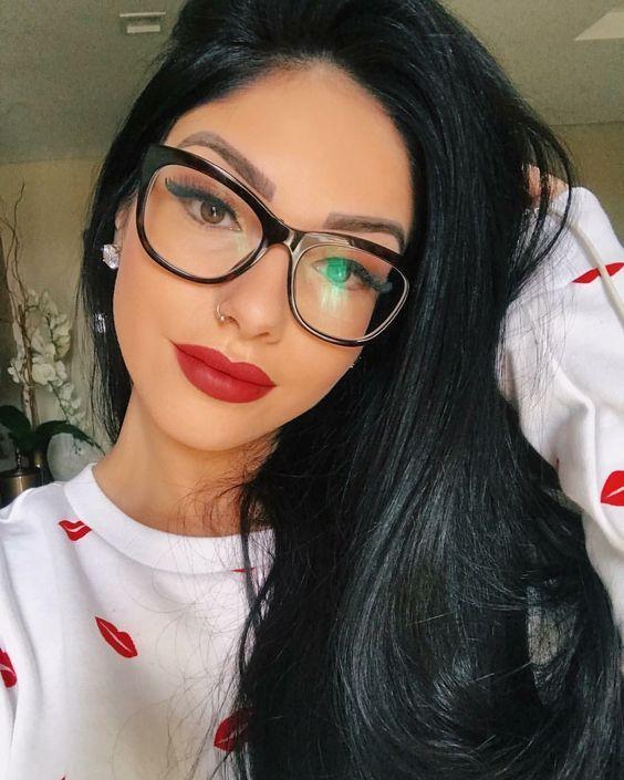 Oculos De Grau Feminino Quadrado Preto Para Mulheres De Todos Os