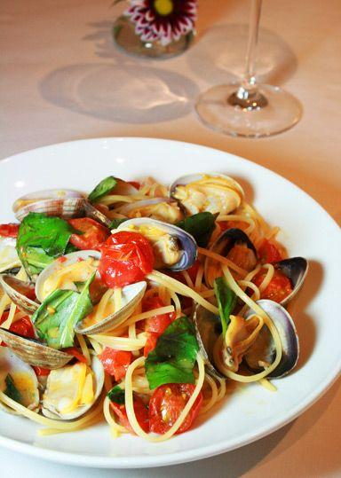 美味しそうなボンゴレロッソパスタ・スパゲッティー