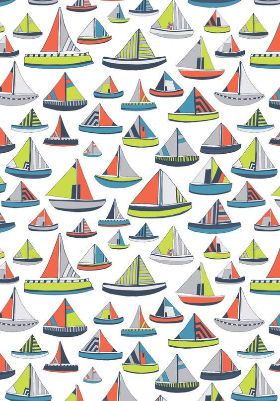 Jessica Hogarth pattern   #sailboats