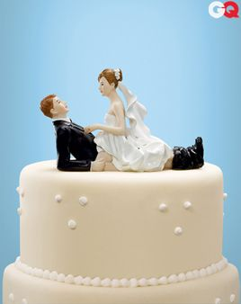 Mine, not Adult naked cake topper