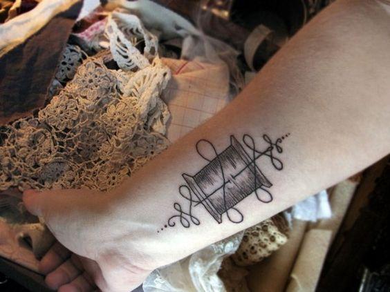 30+Tatuagens+de+costura+e+de+tricô+ +Tinta+na+Pele