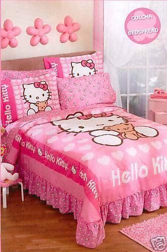 sanrio hello kitty love bedspread bedding set twin from sanrio