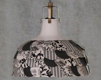 Noir et Ivoire moderne, Shabby Chic suspension luminaire or Accents-chambre cuisine Cottage pépinière lampe directe électricien-MySecretLite