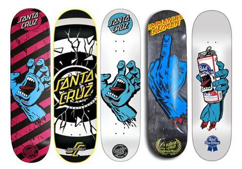 Tablas De Skate Santa Cruz Tablas De Skate Imagenes De Skate Patinetas Skate