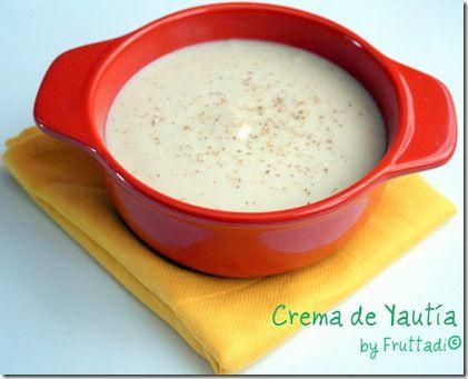 Crema de yautia: