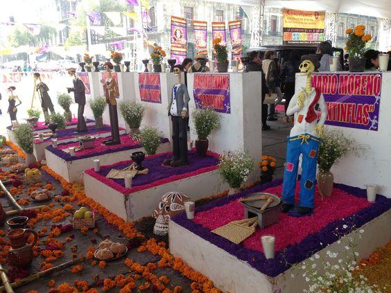 Ofrenda Día de Muertos en el Zócalo 2013.