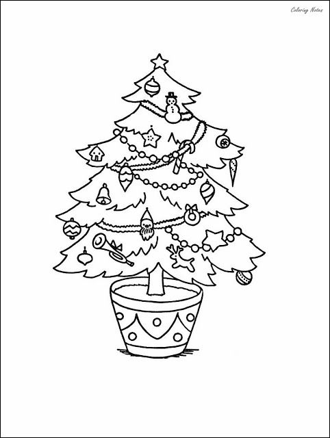 Small Christmas Tree Ornaments Coloring Pages For Kids Christmas Coloring Pages Christmas Colors Christmas Ornament Coloring Page