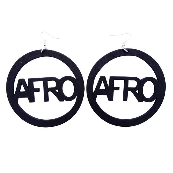 Afro earrings - Black ======================= Shop our entire collection at http://www.ethnicearring.com ======================= You will love our African American inspired Afrocentric accessories that you can wear with your Natural Hair Afro, Twist-Out, Braids, TWA or African Wrap. Our collection of Ethnic Jewelry & Natural Hair Earrings will help you to show off your African heritage and pride. Show the world you are a queen through your fashion. Afrocentric earrings