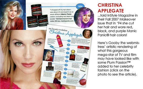 #Christina #Applegate Was Brave In 1994... #ManicPanic #Colouredhair #Dyedhairdontcare #bluebanana
