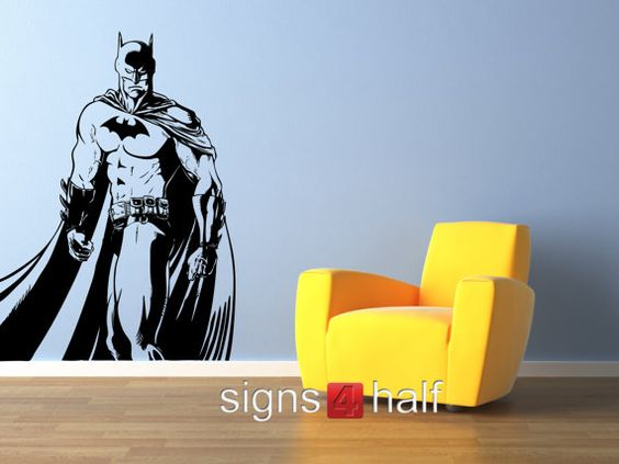 Removable batman wall art decor decal vinyl sticker mural for Batman wall mural decal