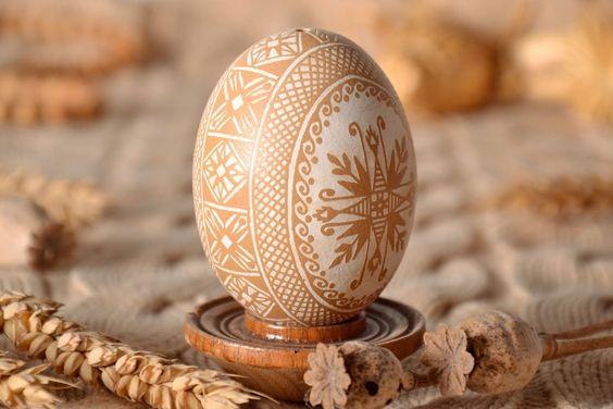 Oeuf de Pâques de poule fait main: Amazon.fr: Cuisine & Maison