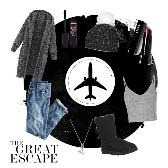 """""""The great escape"""" by dulceodz2 on Polyvore featuring J.Crew, Plane, Glamorous, Topshop, UGG Australia, Bobbi Brown Cosmetics and Maybelline"""