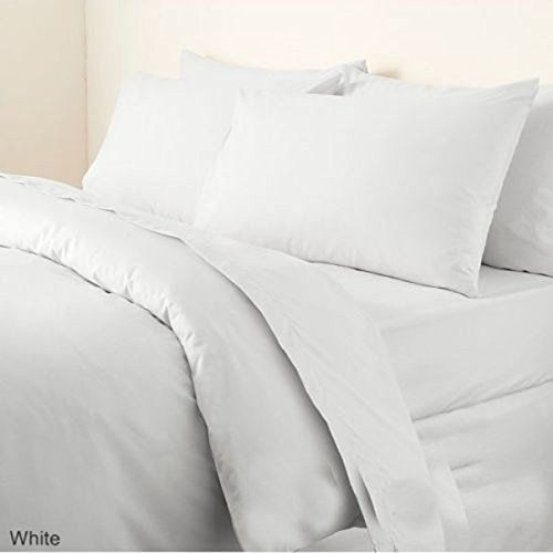 White Plain Dyed Double Duvet Quilt Cover Set With Pillow Cases By Adams Best Quilted Comforter Set Usa King Bedding Sets Quilt Cover Quilted Duvet
