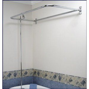 Add-on Shower Set for Clawfoot Tub - Diverter Faucet, Riser, and D shaped Shower Rod - Amazon.com