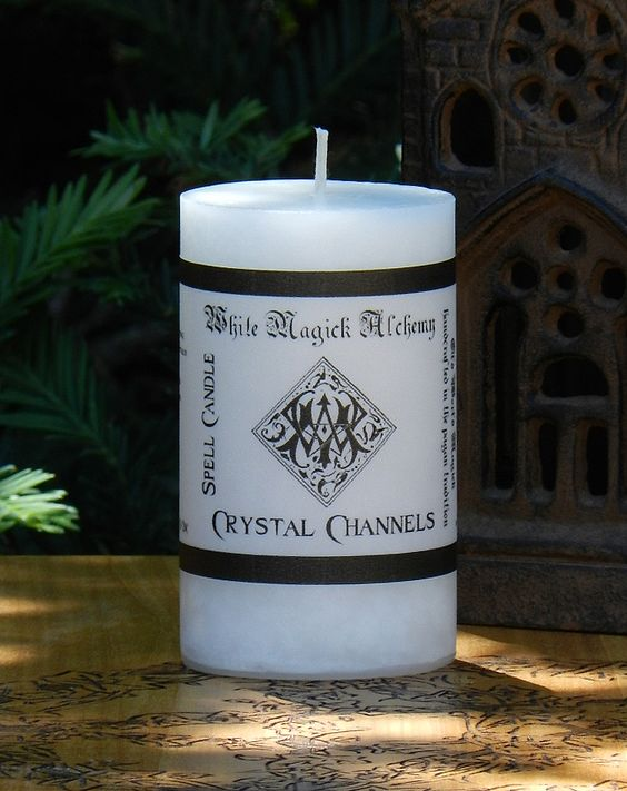White Magick Alchemy - CRYSTAL CHANNELS Spell Candle . Consecrate and Charge Crystals and Gemstones, $9.95 (http://www.whitemagickalchemy.com/crystal-channels-spell-candle-consecrate-and-charge-crystals-and-gemstones/)