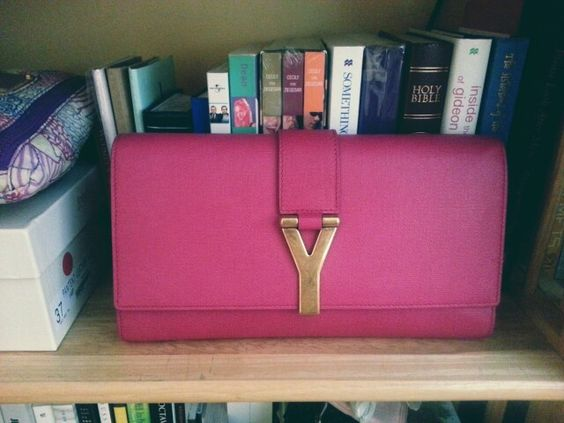 yves saint lauren handbags - Yves Saint Laurent Y Ligne Clutch in Fuchsia #ysl #yvesaintlaurent ...