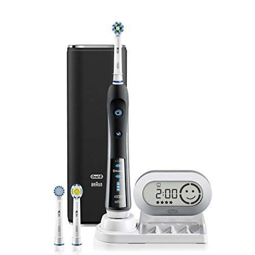 Oral-B Pro 7000 SmartSeries Black Electronic Power Rechargeable Battery Electric Toothbrush with Bluetooth Connectivity Powered by Braun Oral B