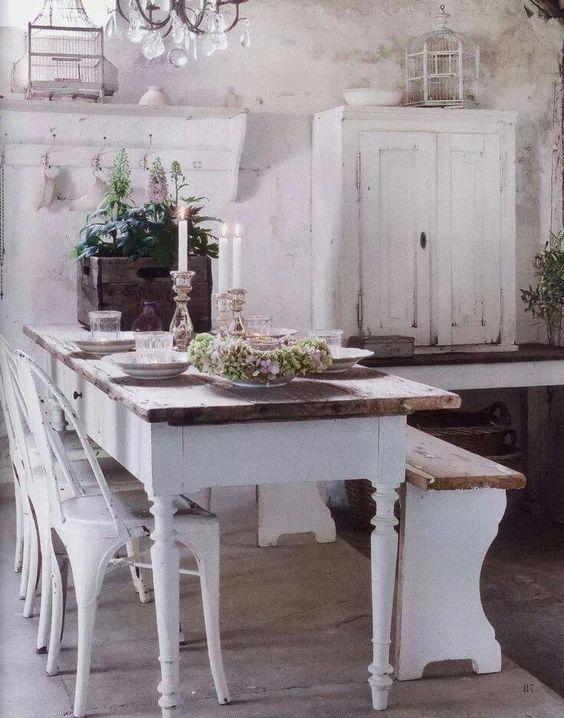 Farm table love ADORATION! Dining Rooms Pinterest Farming - shabby chic küchen