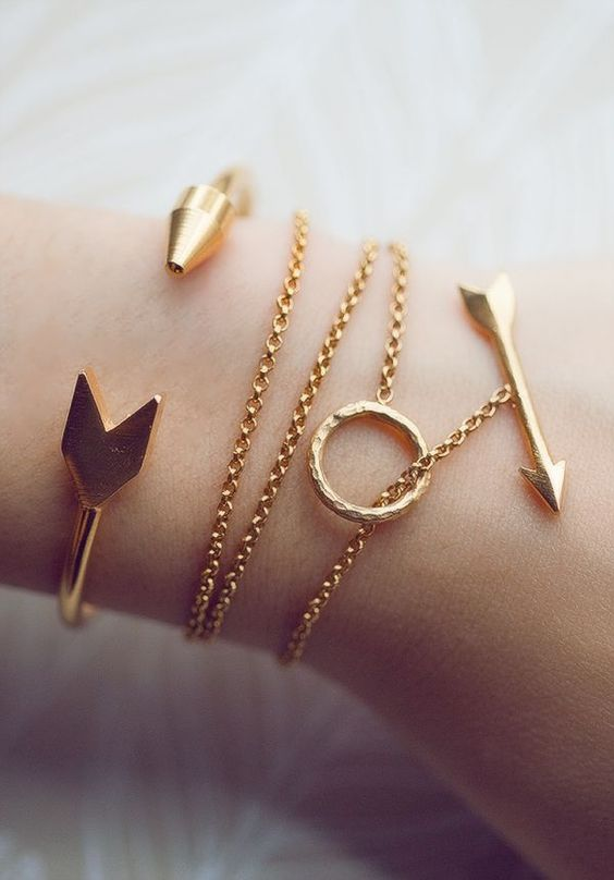 Bracelets ~ Or ~ flèches...