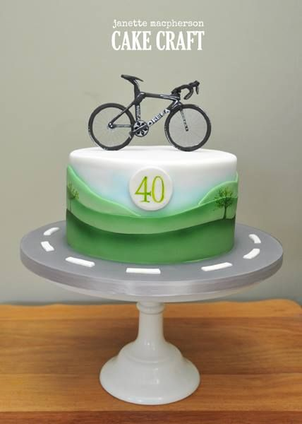 Road Bike Cake Decoration : Bike birthday cake - For all your cake decorating supplies ...