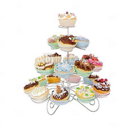 23+tellen+4+tier+cupcake+stand+voor+bruiloft+/+verjaardag,+cupcake+toren,+roestvrij+staal #birthday #cake #cupcake #party #myhomeshopping