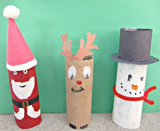 Turn Toilet paper rolls into an amazing Christmas craft , then use  it as a decoration:)